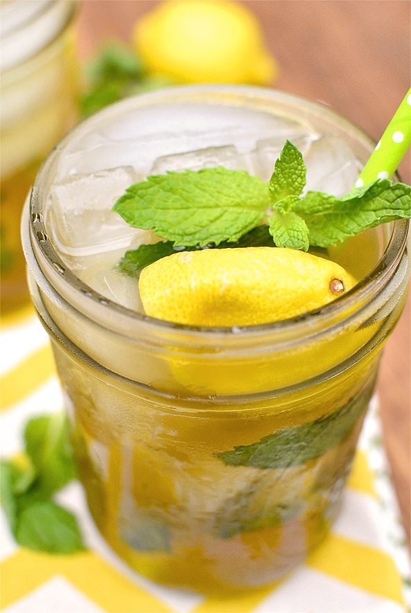 Picture sitting in your lawn chair, sipping on this spiked sweet tea under the sun. Sounds like our ideal Saturday ... or every day.  Get the recipe at Iowa Girl Eats.   - CountryLiving.com