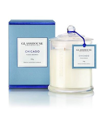 Glasshouse Chicago Fudge Brownie 350g Candle | Australian Made