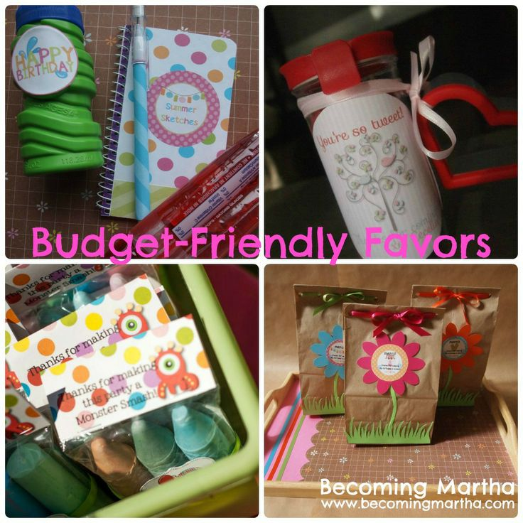 Becoming Martha: Budget Friendly Party Favors
