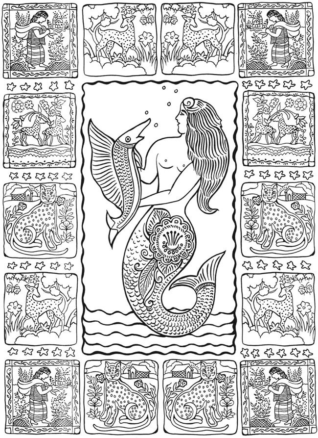 mexican folk art coloring pages - photo#21