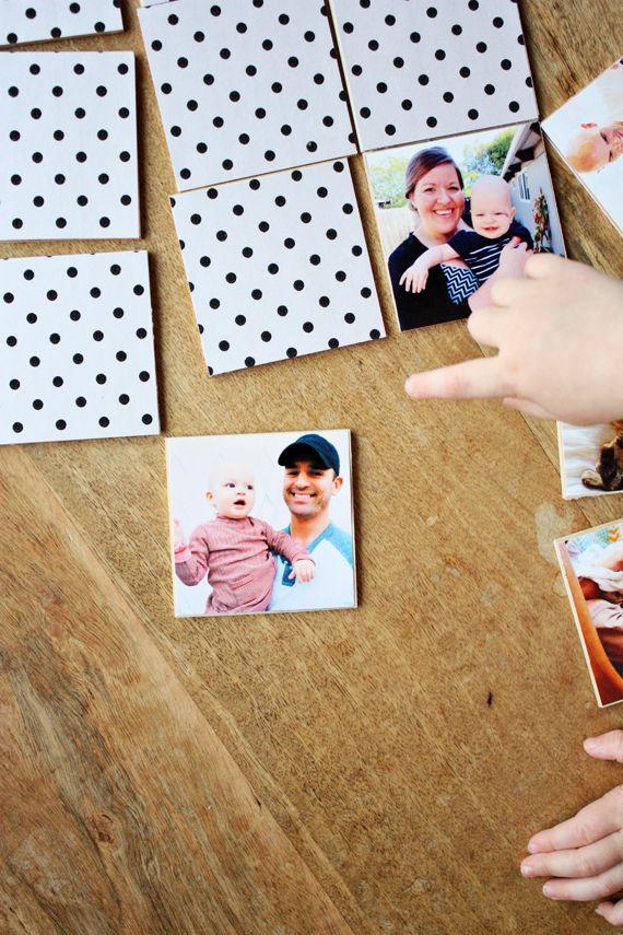 DIY photo memory game