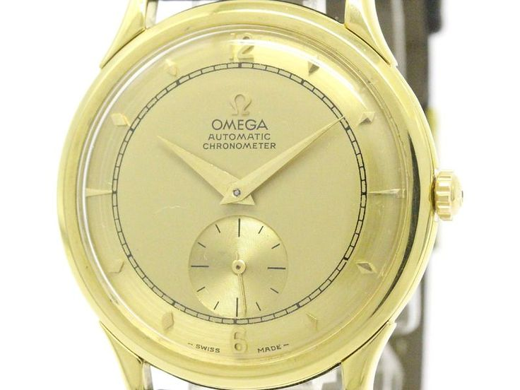 Vintage #OMEGA Centenary Chronometer Ref 2500 18K Solid Gold Mens Watch (BF106143): All of #eLADY's items are inspected carefully by expert authenticators who have years of experience. For more pre-owned luxury brand items, visit http://global.elady.com