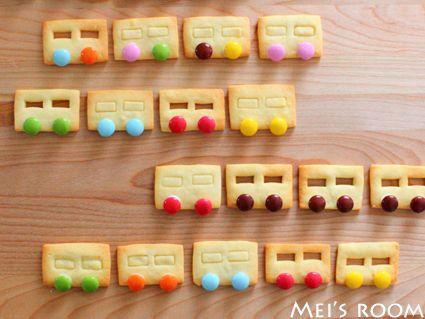 電車クッキー レシピ バスでもいいんだけど