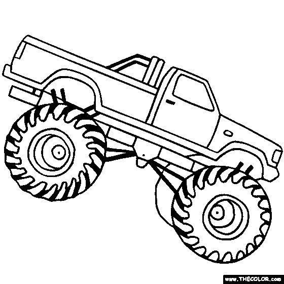 design your own monster truck color pages - Coloring For Boy