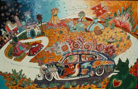 """Gilbert """"Magu"""" Lujan, the founding father of the Chicano Art Movement in Southern California~~~  """"returning from turtle island"""""""
