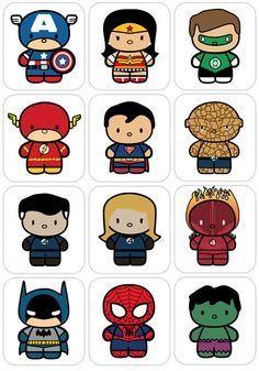 Resultado de imagen para super heroes caricaturas marvel