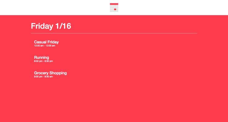 Creating Calendar's AngularJS App