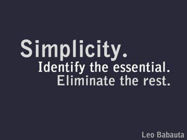 Simplicity. (And stated with efficiency as well.)