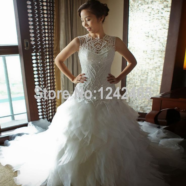 Cheap Gown Wedding Dress Buy Quality Lipstick Directly From China Up Gowns Suppliers Luxury Ruffles Mermaid 2016 New Sexy White Beaded