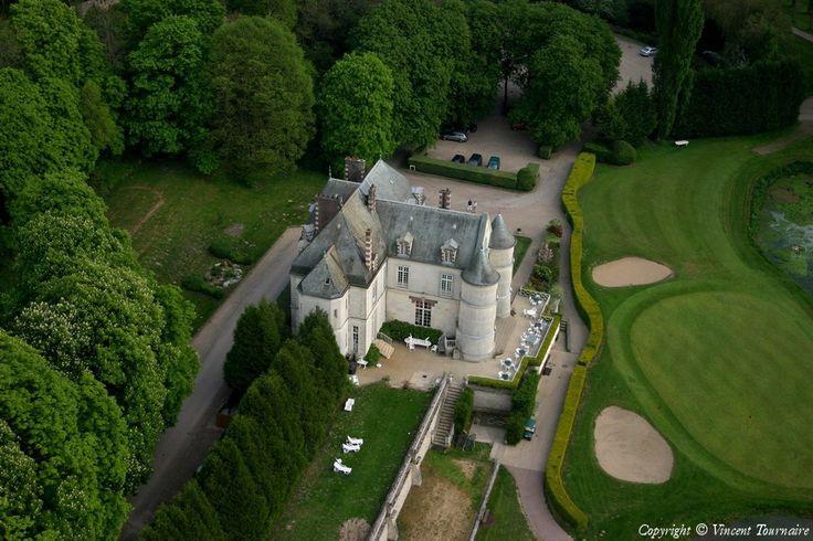Photo aérienne de Château de Villarceaux - Val-d'Oise (95)
