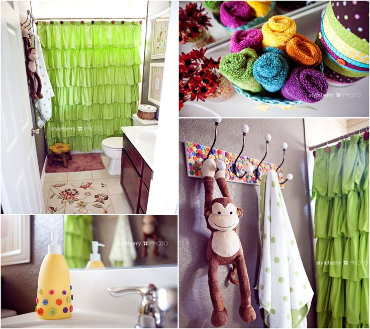Photo Of our fun u quirky kids bathroom DIY towel rack