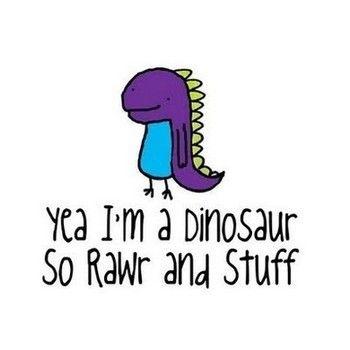 rawr-the dinosaurs on the row