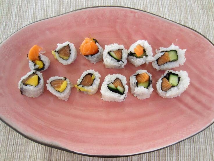 Gunns momsemat: Uramaki med laks, mango og agurk