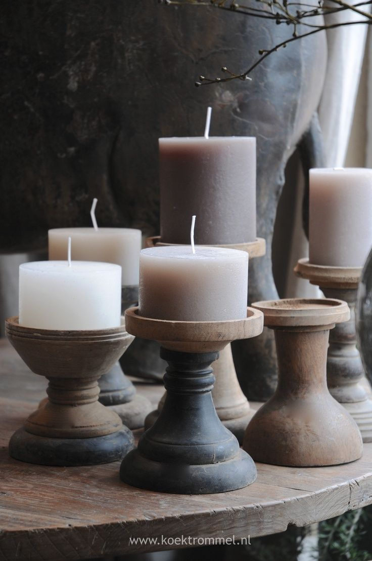 Just love the look...Thrift Store candle sticks, dollar store candles.