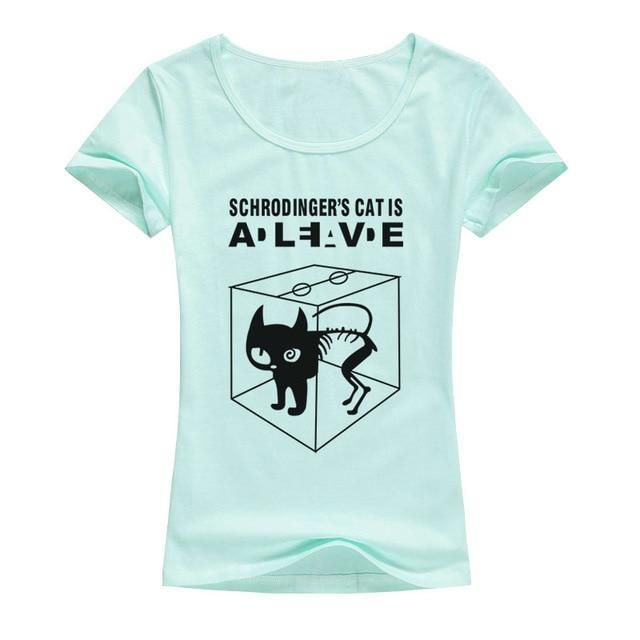 Schrodingers Cat Dead Alive Mens Funny Sheldon Cooper T-Shirt Big Bang Theory