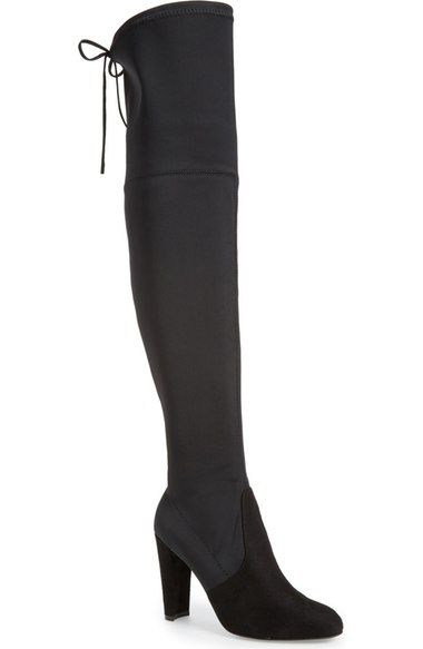 Gorgeous !! Black Suede Knee-high CHARLES DAVID Fashion Boots - Size 7