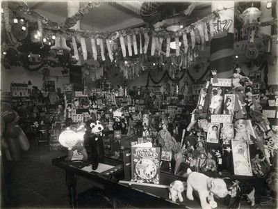 Army & Navy Stores, London, photograph of in store toy displays , c1930s