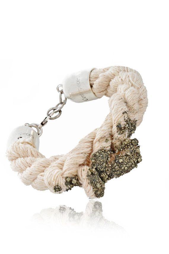 Rope Bracelet  Statement Bracelet With Iron by EleannaKatsira, €48.00