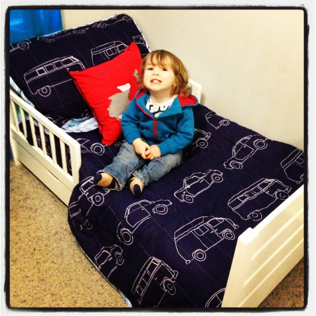 Day 9 - Big. Trey is his big boy bed. Oh I need a new baby! #photoadayjuly