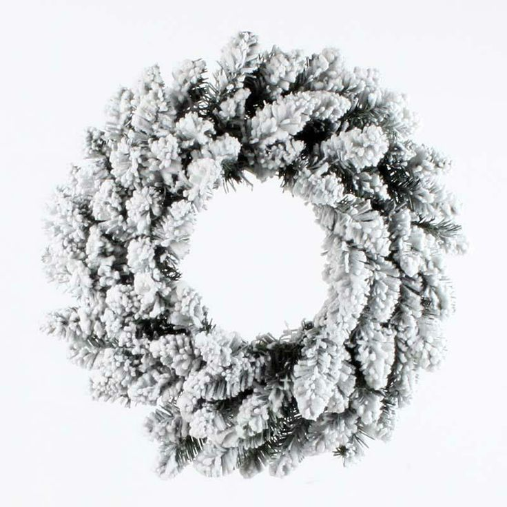 Wreath snowflakes pines #christmas www.inart.com