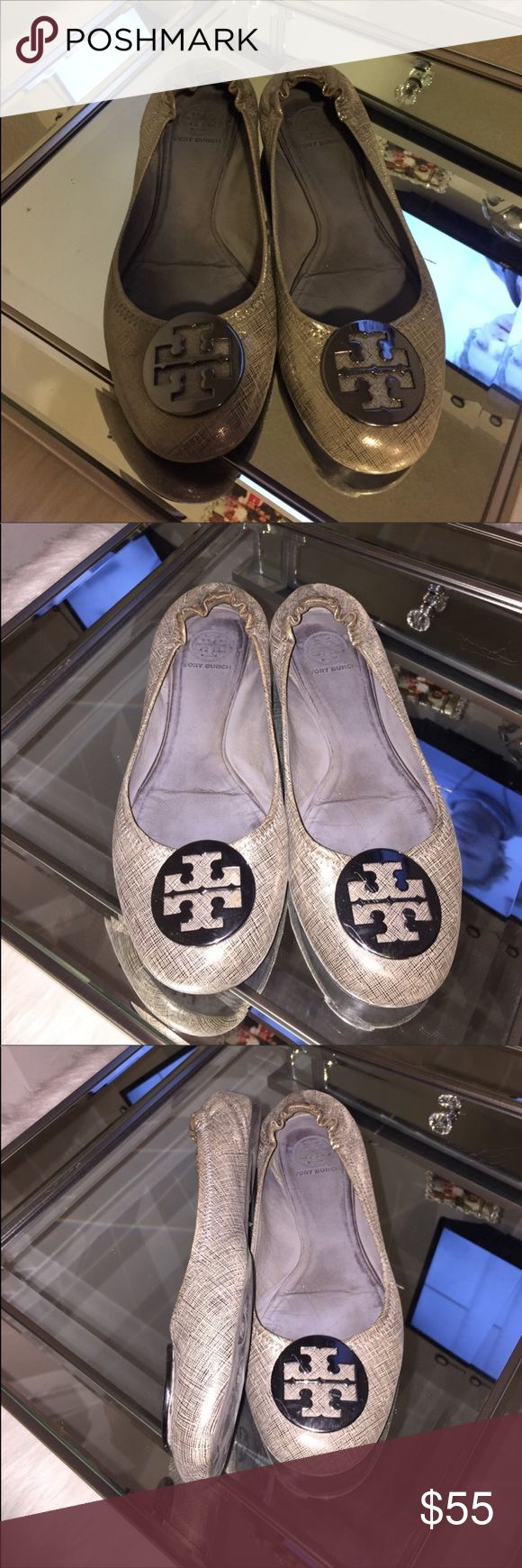 Tory Burch size 11 Gray Flats Beautiful pair of size 11 Tori Burch gray flats. Used Tory Burch Shoes Flats & Loafers