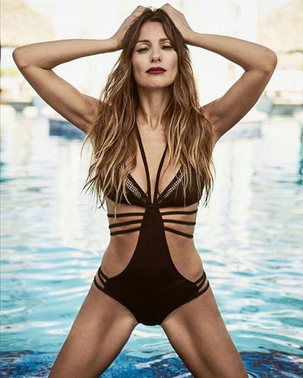 La modelo mostró sus curvas perfectas (Revista ¡Hola! Chile)