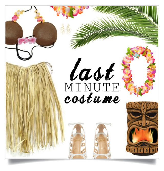 """Hawaiian costume"" by ambacasa ❤ liked on Polyvore featuring Christian Louboutin and Buccellati"