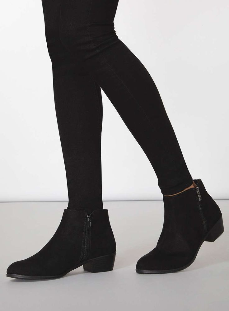 Wide Fit 'Wrapy' Black Wide Fit Boots - Dorothy Perkins