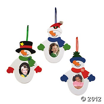 snowman picture frame craft kit oriental trading company