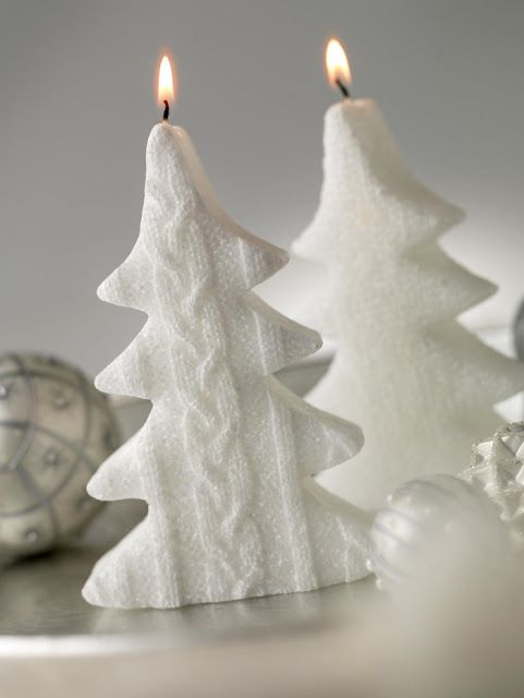 sweater tree candles