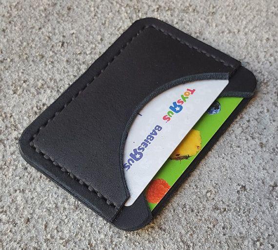 Leather Minimalist Wallet-Leather Wallet-Mini by 4BlackbirdsStudio