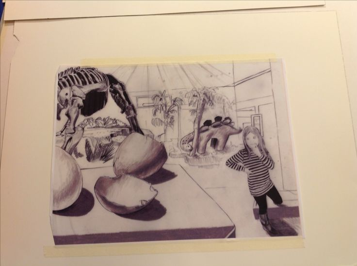 Carolyn Dee Flores - Photo of Sketch for dinosaur book