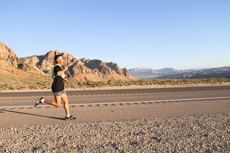 Views from Ragnar Las Vegas - Head down from 8500 feet into the beautiful valley, run with views of the Las Vegas strip, and finish your journey at the Red Rock Resort and pool-side party! Click to find out more about Ragnar Las Vegas!
