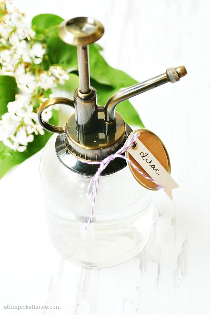 This would be such a great gift! Homemade lilac room spray is so easy to make and captures the fragrance of spring all year long.