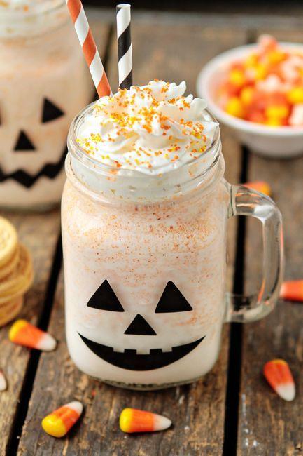Candy Corn Oreos and vanilla ice cream combine to create a deliciously festive Halloween treat!