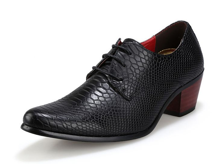 2015 New Mens Oxford Shoes Snake Print Leather Cowboy Dance Formal Dress Flat Lace Up Boots Size38-43