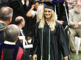 Carrie Underwood attended Northeastern State University in Tahlequah, Oklahoma. In 2004, she decided to try out for season four of American Idol. Carrie made it to the top 12 and ended up taking home the crown of 'American Idol' on May 25, 2005. Also in 2005, Carrie was named 'Oklahoman of the year' by Oklahoma Today Magazine. After winning American Idol, Carrie went back to school and graduated in 2006 as a magna cum laude and obtained a degree in Mass Communication and Journalism. To this…