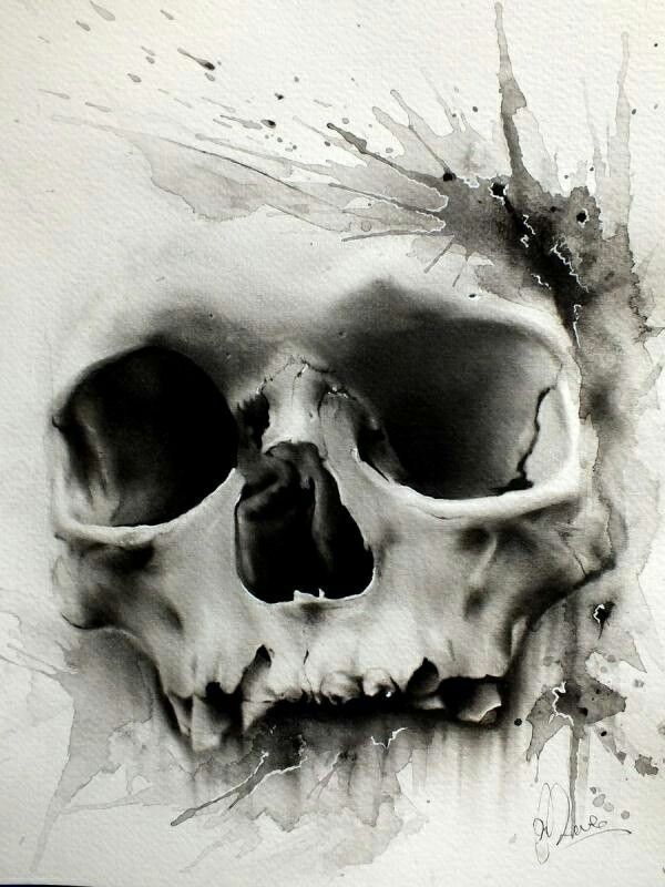 Skull art - not a big favor skulls bit this one is really well done, expressive work
