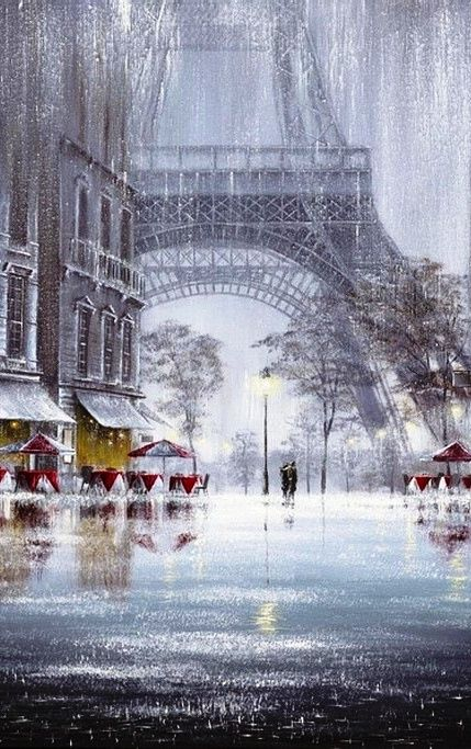 Eiffel Tower - really like this pic but does anyone know who painted it?