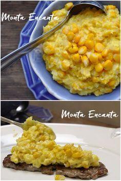 Creme de milho verde bem amarelinho, de cor e sabor intenso e doce ao mesmo tempo, no ponto. Cremoso e com grãos ainda inteiros de milho. Não leva farinha, nem …