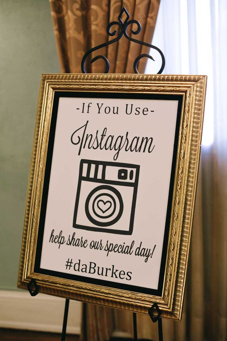 House design hashtags - Instagram Wedding Hashtag Sign Elegant Black And White Wedding At Mirror Lake Lyceum In St
