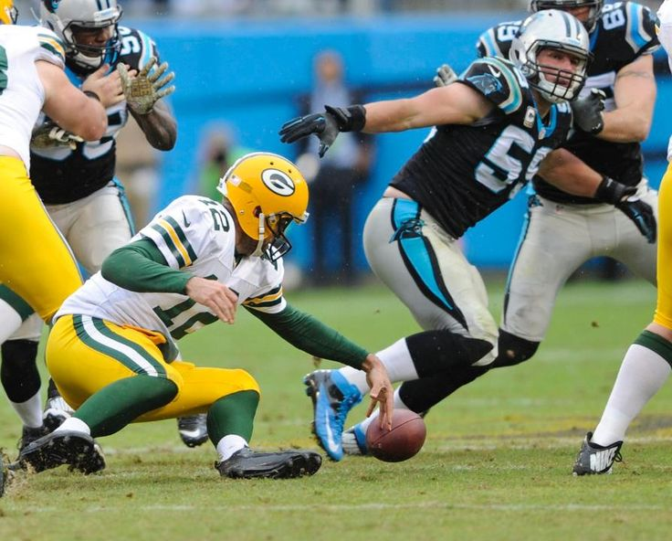 Packers Panthers Football Aaron Rodgers, Luke Kuechly