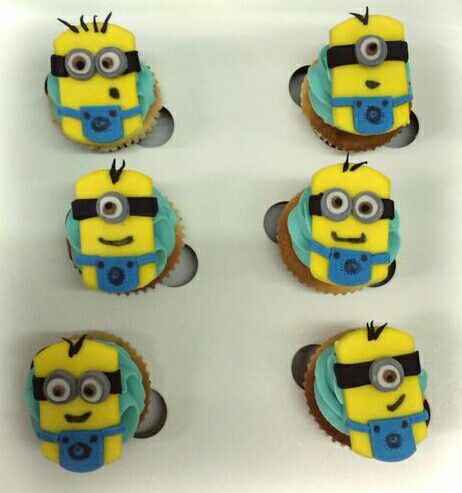 One in a minion! #Minions #DespicableMe #AnimatedFood #Cutelings #Cupcakes #FoodPorn #Ambrosia