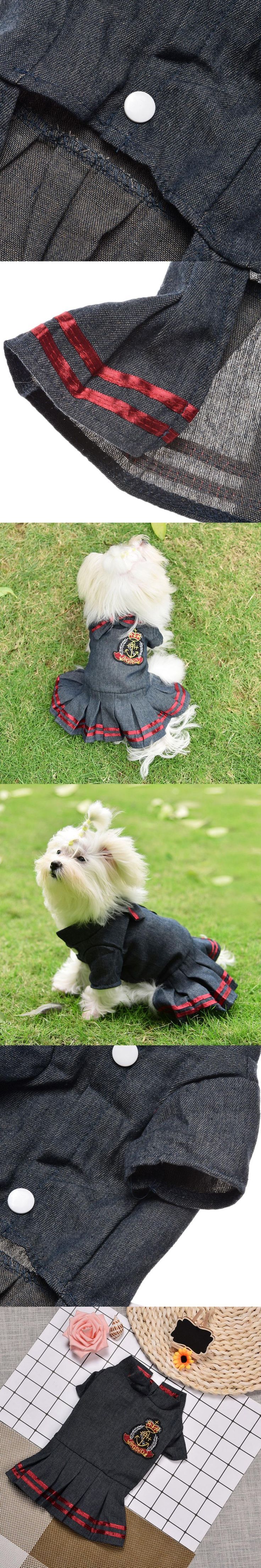 New campus style skirt,Cotton Blend material,Suitable for casual party,spring summer use,prevent skin disease,give dogs protect