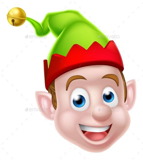 Cartoon Christmas Elf Face