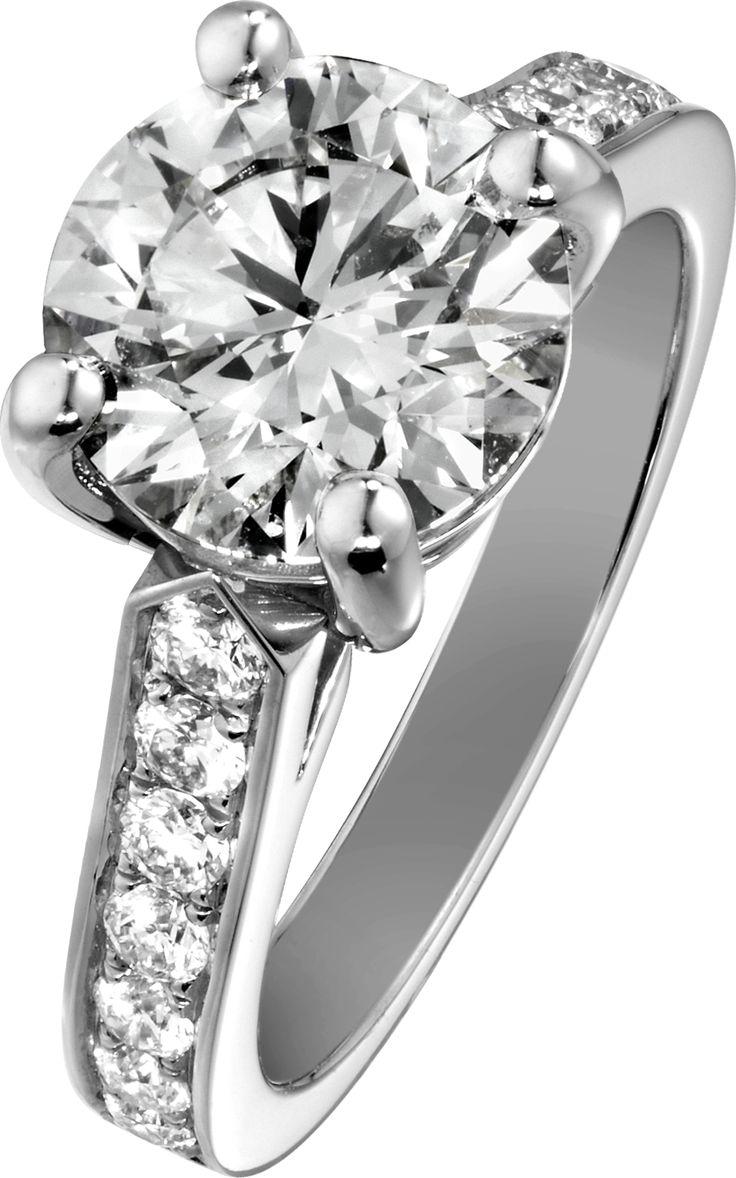 #engagement #ring G34lu400 In Platinum With #diamonds