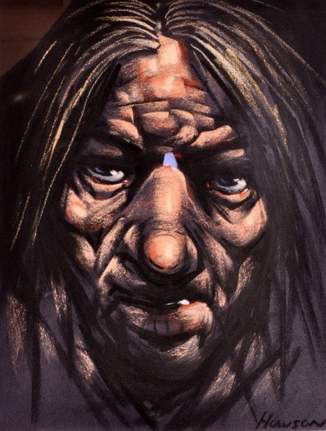 Peter Howson Big Nose Pastels | Scottish Contemporary Art