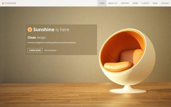 Sunshine - One Page Responsive Theme