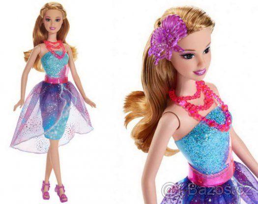 Barbie - Kouzelná dvířka kamarádky mořské víly (fialová) - 1