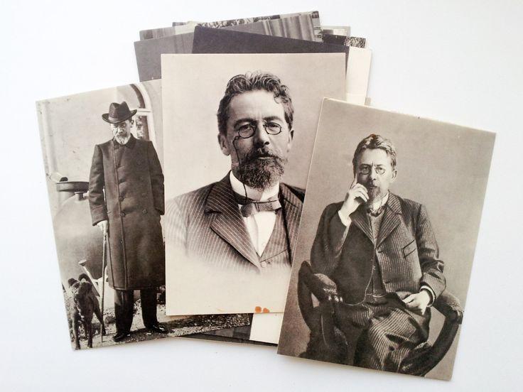 New to SovietPostcards on Etsy: Anton Chekhov Set of 19 vintage Soviet postcards (1970) Russian literature book author writer 19 century (13.00 USD)